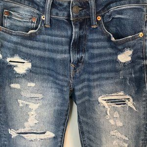 American Eagle Distressed Blue Denim Jeans